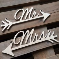 wooden chair - Pair VIntage Mr And Mrs Wedding Sign Wooden Hanging Signs Chair Backs