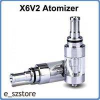 al por mayor x6 nudos e cig-El más nuevo mejorado X6V2 2.5ml atomizador de metal E-cig X6 Cartomizer cigarrillo electrónico atomizador Rebuildable Clearomizer Suit para KTS K100 K101