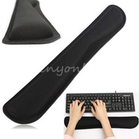 Wholesale Black Comfortable Gel Wrist Raised Hands Rest Support Pad Cushion For PC Keyboard Office Work Decoration