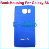 aluminium door fittings - Replacement Battery Door Housing Back cover for Samsung Galaxy S6 G9200 Brushed Metal Aluminium Plastic Cellphone Case