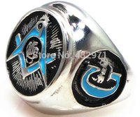 Wholesale Hot sale best gift Masonic signet ring for middle east men with quality guarantee