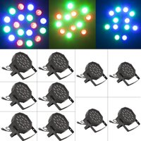 Wholesale US Stock W Channel RGB Led Flat Par Light Stage Lighting for Club DJ Stage Party KTV Disco w DMX Control