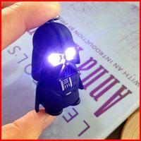 batteries keychains - Star Wars Keychain led light voice Darth Vader key chain battery LED flash Luminous key rings