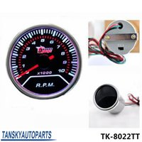 Wholesale New quot mm Tachometer Car Auto Gauge LED Universal auto meter auto gauge car meter TK TT