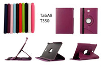 Wholesale PU Leather Case For Samsung Galaxy TAB A quot T350 Degree Rotation High Quality Cover case colors