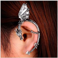 ancient goths - Tide restoring ancient ways is fashion and personality goth punk dragon shaped no ear pierced ear clip earrings manufacturers