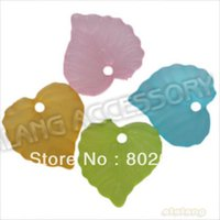 assorted leaf shape - 600pcs Heart Shaped Leaf Style Assorted Colors Acrylic Spacer Jewelry Beads mm161316
