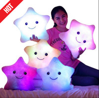 led pillow - Promotion cm cm Star Led Light Pillow Cute Star Luminous Pillow with Colorful Light Birthday Valentine s Day Gift Hot Sale