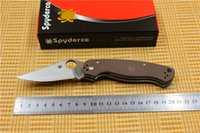 Wholesale SPYDERCO folding knife CPM S30V HR Black G10 handle pocket Tactical paramilitary