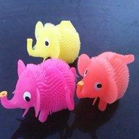 Wholesale The elephant flash Maomao series night luminous children vent ball toy ball luminous Maomao