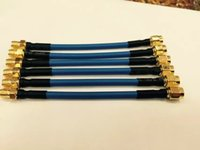 Wholesale RP SMA female to SMA male with cm inch RG402 Soft Pigtail Extension Insulation Cable with FEP blue jacket
