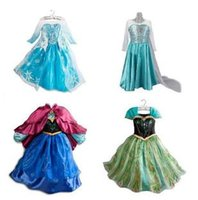 party dresses for baby - Promotion Baby Girls Dress Elsa Anna Cosplay Frozen Dresss for Girl Party Princess Kids Clothes Robe