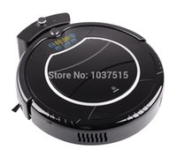 Wholesale Robot Vacuum Cleaner Two Side Brushes LED Touch Screen with Tone HEPA Filter Schedule Virtual Wall Self Charge