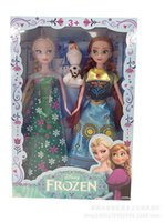 Cheap Frozen Fever 2015 New Arrival Toy Princess Elsa doll and Anna doll and olaf with boxes pack Moving of the limbs 11.5 inches FREE FEDEX T24