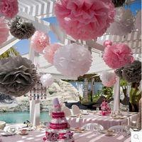 Wholesale 2015 Fashionest colorful Bulk Flowers for Wedding Birthday Party colors DIY Paper Flowers Gorgeous Bridal wedding decors Petals Cheap