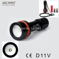 aa photography - Archon W17V D11V LMS Diving Photography Underwater Video LED Flashlight Torch flashlight dvr flashlight aa