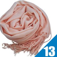 Approx 70cm x 170cm fringe scarf - Mixed Pashmina Cashmere Solid Shawl Wrap Women s Girls Ladies Scarf Soft Fringes Solid Scarf Via DHL
