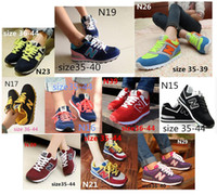 Wholesale New women Sport Shoes Sneakers men Casual N letters Shoes breathable lovers walking running shoes size EUR