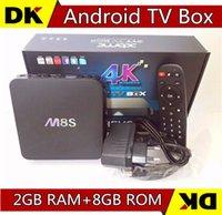 Wholesale 5pcs Cheapest M8S Amlogic S812 Quad Core K Smart TV Box Android GB GB kodi14 G G WIFI Media Player H HEVC Bluetooth