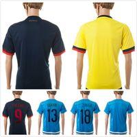 Wholesale Top Thai Colombia Soccer Jersey JAMES FALCAO Colombia Jerseys RODRIGUEZ Colombia Survetement Shirts Camiseta De Futbol