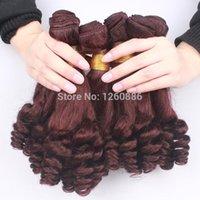Sin procesar Borgoña cabello brasileño 6A grado Aunty Funmi cabello tía Funmi Bouncy rizos barato brazalete brasileño cabello 4 lotes Lote