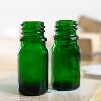 Yes essential oil glass bottle - 600pcs ml green essential oil glass bottle with childproof caps with glass pipettes two caps for choose dropping shipping