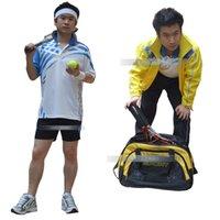 Wholesale 2015 New men s Full badminton clothes male set sports clothing set tennis table tennis ball clothes