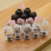 Cheap glass cabinet door knobs Best brilliant crystal furniture knobs