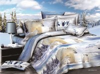 bear bedspreads - hot sale personality Polar bear design d bedding sets queen size quilt cover bedspread quilt cover bed linen bed sheet
