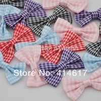 Yes tartan plaid ribbon - U Pick Tartan plaid Ribbon Bows flower Appliques craft mix A074