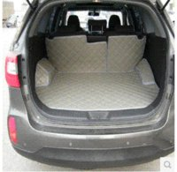 Wholesale for KIA Sorento seats special trunk mats back mats waterproof leather carpets Sorento seats luggage pads M50413