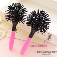 plastic hair comb - Brand New D Hair Curl Brush Rollers Plastic Comb DIY Styling Tools Lucky Ball