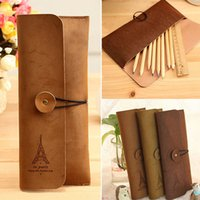 Wholesale New Arrivals Makeup Case Pen Stationery Storage Zipper Pouch Bags Suede Leather Size CM BX143