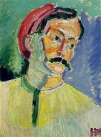 andre derain paintings - Portrait of Andre Derain Collioure by Henri Matisse oil Painting Canvas Modern Art High quality Hand painted
