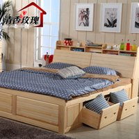 Wholesale CIF CRF shipping Solid wood bed pine wood furniture double bed for children meters high box garden bed gift