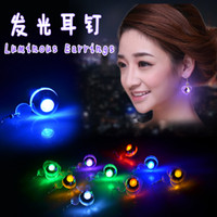 Wholesale Christmas Gift LED Stud Flash Earrings Hairpins Strobe LED Earring Lights Strobe LED Luminous Earring Party Magnets Fashion Earring Lights