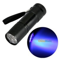 battery operated led strobe light - UV Ultra Violet Blacklight LED Flashlight Torch Light battery operated wall lamp lamp bike