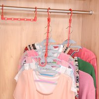 Wholesale classification hangers organize admission rack christmas gift creative five hole magic hanger F0033