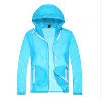 Wholesale Y09 p20 slim beach sun protection clothing windproof color block decoration neon bright color with a hood water proof and FG1511