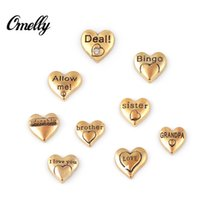 Wholesale Gold Filled Heart Love Brother Sister Family Charms for Floating Lockets Pendant Small Pieces Loose Beads Charms