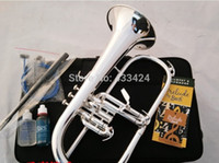 musical instruments professional - American Bach flugelhorn silver plated B flat Bb professional trumpet Top musical instruments in Brass trompete horn
