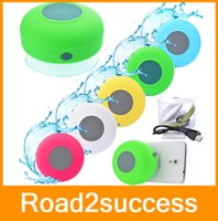 Wholesale Portable Waterproof Wireless Bluetooth Speaker Shower Car Handsfree Receive Call Music Suction Phone Mic Promotion DHL Fedex