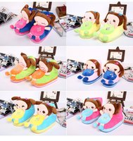Wholesale 2014 new high top cartoon cotton slippers shoes warm winter cotton heudauo Indoor home slippers
