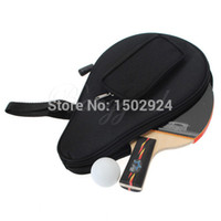 Wholesale New Nylon Black Table Tennis Racket Bag for Ping Pong Paddle Bat Sport Case with Ball Pouch Two side pips in rubber