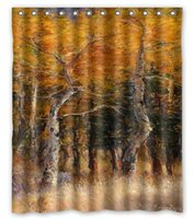 autumn shower curtains - Golden autumn tree trunk custom Shower Curtain Bathroom decor x72 quot x72 quot x72 quot x72 quot