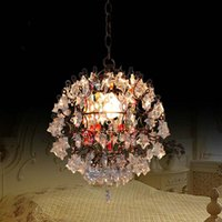 Wholesale Retro Round Crystal Chandelier with Color Crystal