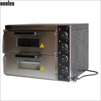 Wholesale Xeoleo Commercial Electric Pizza oven Professional Double layer pizza stove stainless steel V W bakery oven Pizza machine