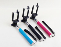 aluminum telescopic handle - Self timer Mobile phone Extendable Ski Pole Handle Telescopic Monopod With Tripod Mount For Camera iphone S S C Galaxy S5 S4 NOTE