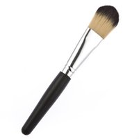 best cheap powder brush - Professional black case wood handle cheap best makeup brush high quality kabuki powder makeup brush tool free for beautyx1