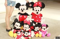 minnie mouse plush - Available M giant Mickey Mouse Minnie Mouse Plush Toy Pink Red Soft Pretty Kids Birthday gifts